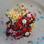 Chocolate Dipped Loaded Rice Krispie Treats