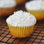"""Skinny"" Pineapple Cupcakes with Greek Yogurt Coconut Icing"