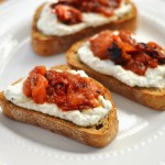 Roasted Tomato and Herb Ricotta Crostini