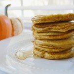 Pumpkin Spice Whole Wheat Pancakes