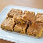 Healthier Pumpkin Chocolate Chip Bars