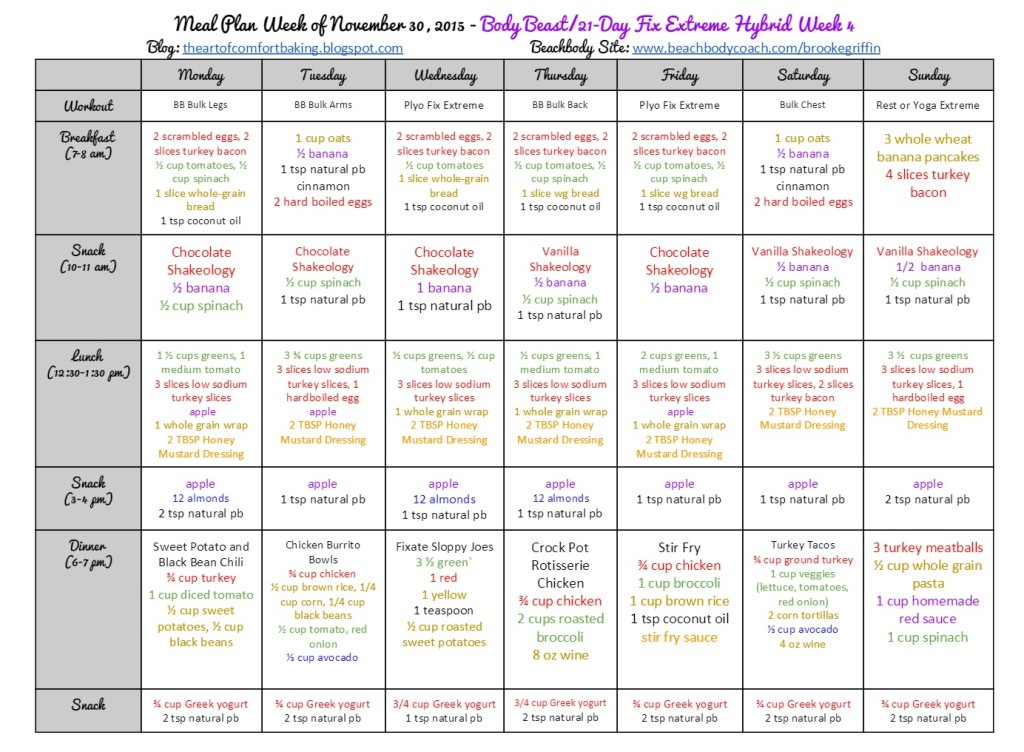 30 Day Extreme Diet Meal Plan - darkposts