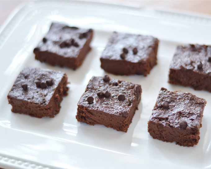 healthier dark chocolate brownies
