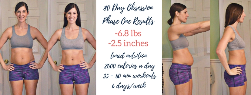 80 Day Obsession Results - Phase One - Simply Clean & Fit